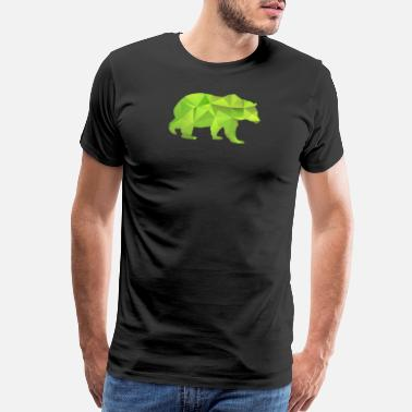 Cub Sport I Love Bears Green Grizzly Polar Cub Geometric - Men's Premium T-Shirt