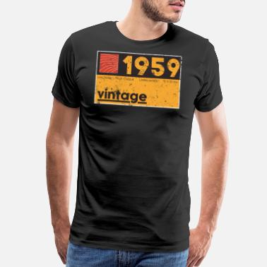 Producer Music Producing 1959 Vintage Cassette Birthday - Men's Premium T-Shirt