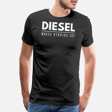 Black Power Funny Diesel Roll Coal Diesel Makes Hybrids Cry - Men's Premium T-Shirt