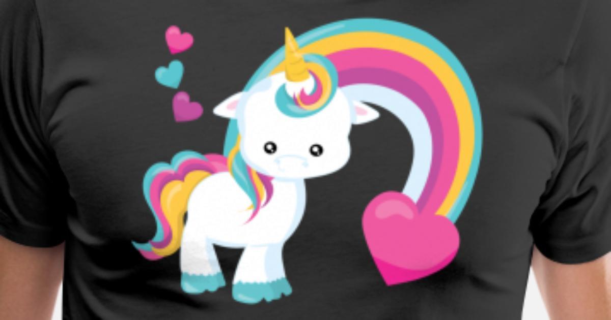 Cute Baby Unicorn Rainbow Hearts Unicorns By LarkDesigns2