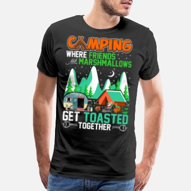 Marshmallows Camping Where Friends And Marshmallows Tshirt - Men's Premium T-Shirt