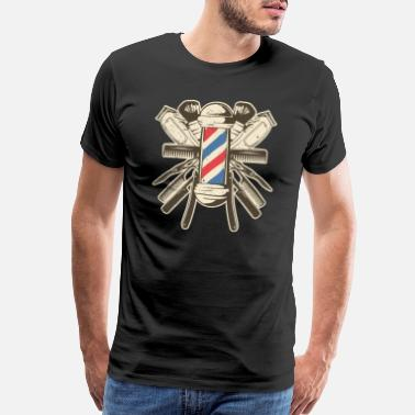 Barber Barber Accessories - Hairdresser Beard Hairstyle - Men's Premium T-Shirt