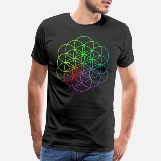 Abstract Crew Neck for Ultimate Comfort T-Shirt,Flower of Life in I