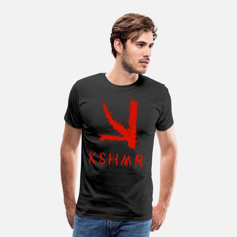Raver T-Shirts - KSHMR (With Name Logo) - Men's Premium T-Shirt black
