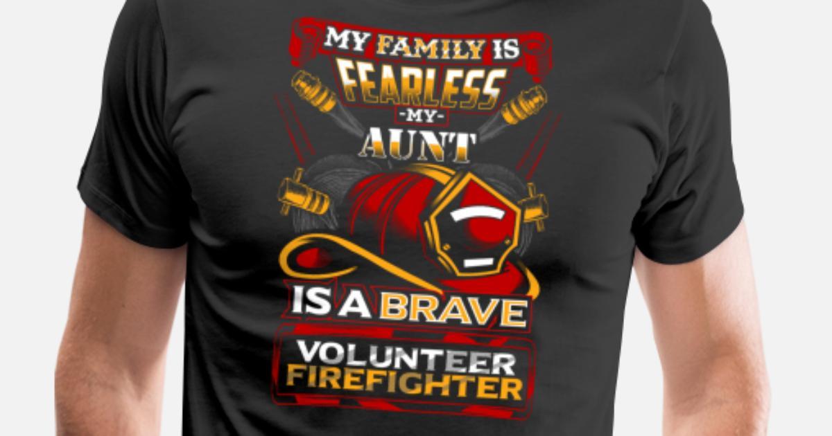 bbc4d7af Volunteer Firefighter Aunt Support Men's Premium T-Shirt | Spreadshirt
