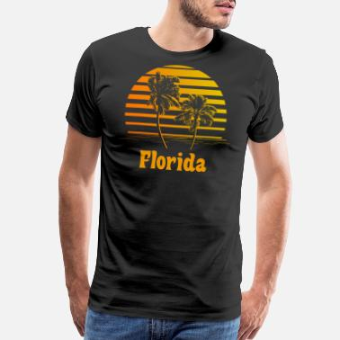 Florida Palm Tree Florida Sunset Palm Trees - Men's Premium T-Shirt