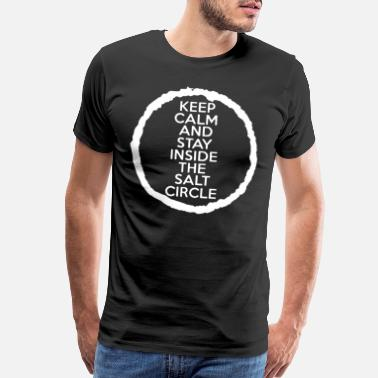 Winchester Brothers Keep Calm Inside Salt Circle Unisex Mens Ladies Su - Men's Premium T-Shirt