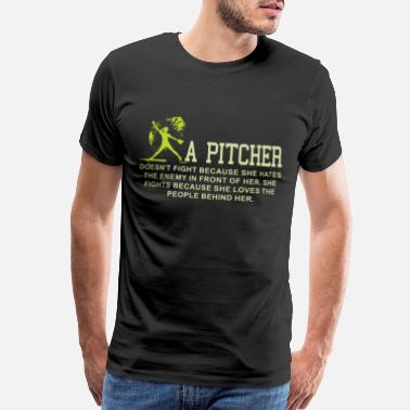 Pitcher Catcher a pitcher baseball t shirts - Men's Premium T-Shirt