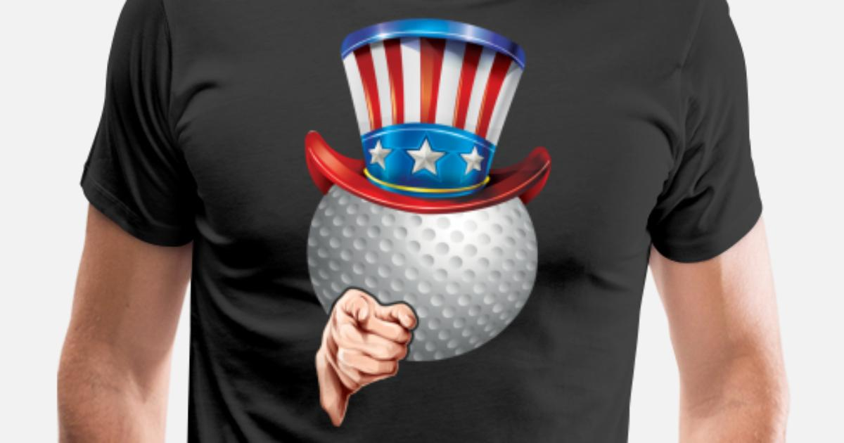 de11db81 4th of July USA Indepedence day Patriotic Uncle Sam Golf Men's Premium T- Shirt | Spreadshirt