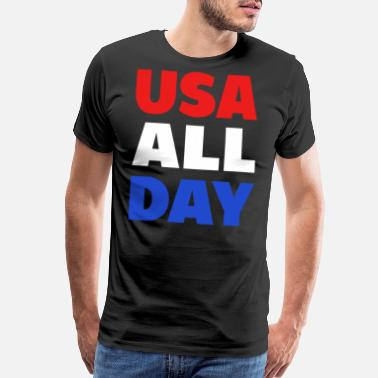 July Fourth USA united states of america 4th of july fourth - Men's Premium T-Shirt