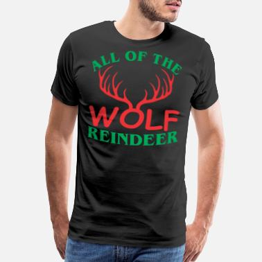 All Saints Day All Of The Wolf Reindeer Christmas Xmas - Men's Premium T-Shirt