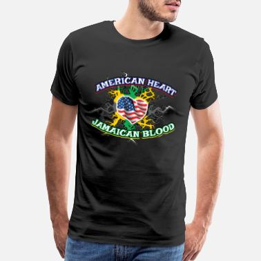 Label Vintage Funny Jamaican Blood Gift for Americans - Men's Premium T-Shirt