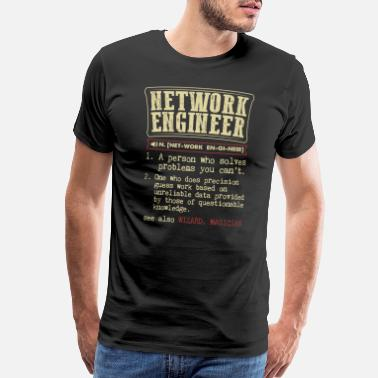 Network Network Engineer Funny Dictionary Term Men's Badas - Men's Premium T-Shirt