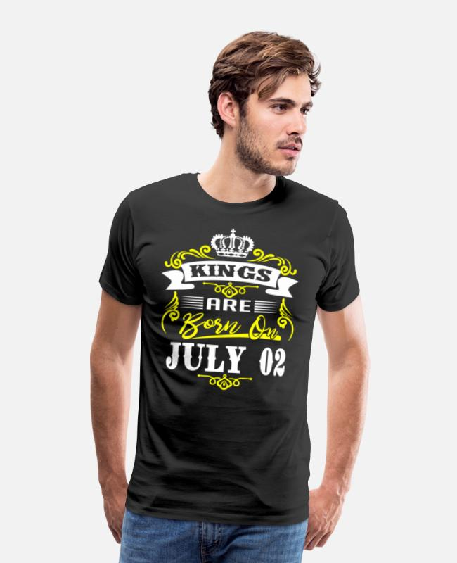 Legends Are Born In July T-Shirts - Kings Are Born On July 02 - Men's Premium T-Shirt black