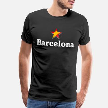 Spain Stars of Spain - Barcelona - Men's Premium T-Shirt