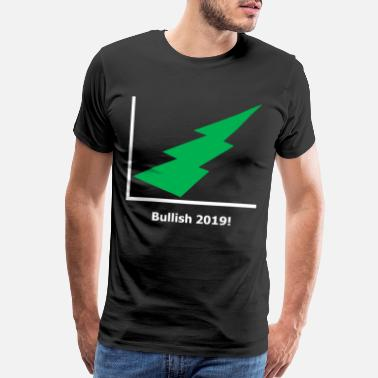 Lightning Bolt Stock Market - Bullish 2019 - green - black - Men's Premium T-Shirt