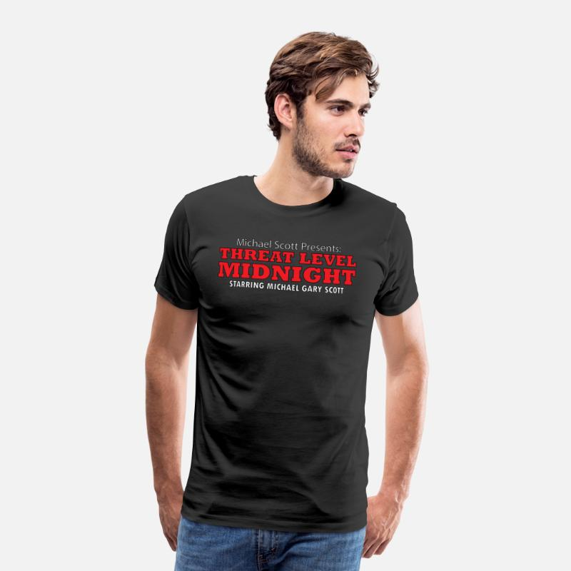 Threat T-Shirts - Threat Level Midnight - Men's Premium T-Shirt black