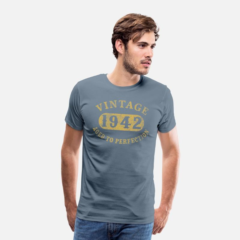 75 Years Old 75th Birthday Gift Vintage 1942 Aged Mens Premium T Shirt