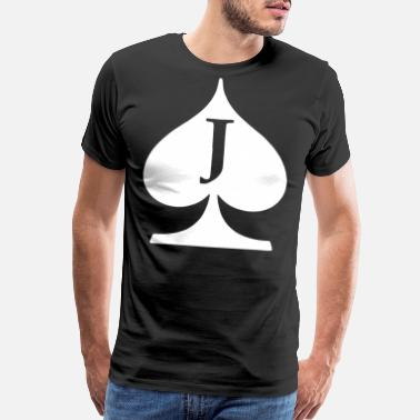 Spades Jack Of Spades Deck Of Cards Poker T Shirts - Men's Premium T-Shirt
