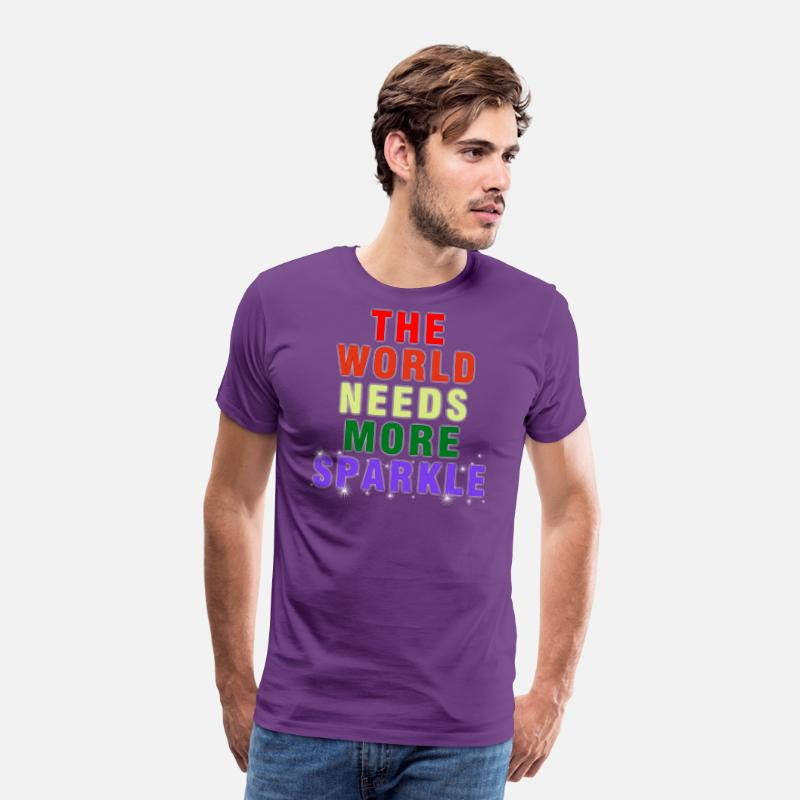 e55859466830 The world need more sparkle Men's Premium T-Shirt | Spreadshirt