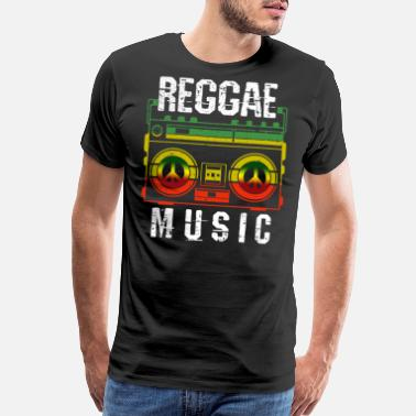 Reggae Reggae Music - Peace One Love Rasta Jamaican Flag - Men's Premium T-Shirt
