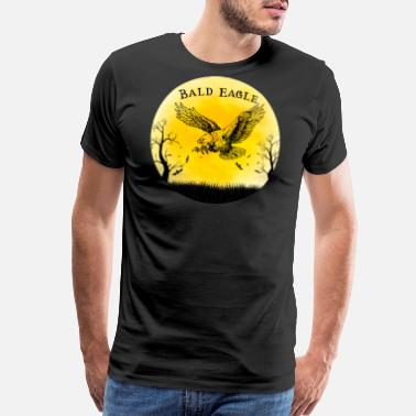 Mexican Style Bald Eagle Halloween Vintage Retro Moon - Men's Premium T-Shirt