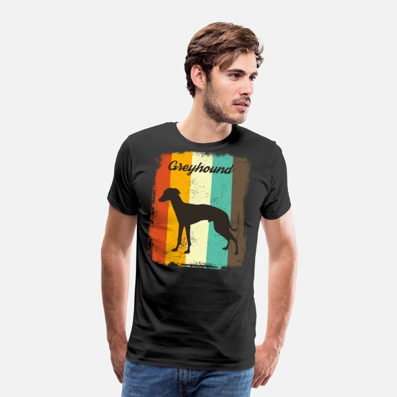 Greyhound Pop-Art Vintage-Style T-Shirt Tee Men Women Youth Tank Long