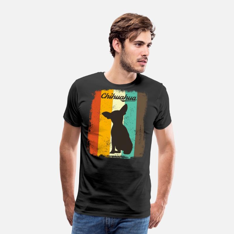60771dd27 Chihuahua Retro 70s Vintage Dog Lover Gift Men's Premium T-Shirt ...