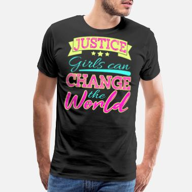 Author Justice Can Change the World tee designs not - Men's Premium T-Shirt