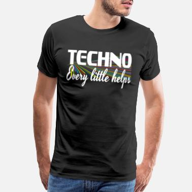 Instructions Strikingly vibrant colorful Techno Every Little - Men's Premium T-Shirt