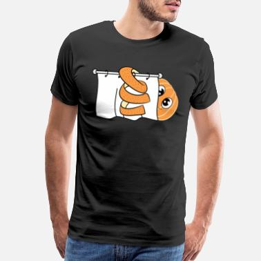 Exposed Naked and orange tee design. Cute and adorable - Men's Premium T-Shirt