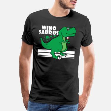 Pink Cherry Love wine and dinosaur at the same time? No need - Men's Premium T-Shirt