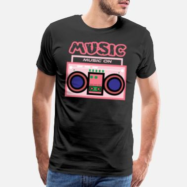 Broadcasting Cute and pink Radio Music tee design. Makes a - Men's Premium T-Shirt