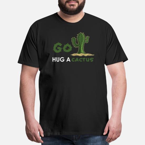 Desert Cactus Quotes Design Men's Premium T-Shirt | Spreadshirt
