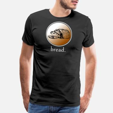 Crop Circle Bread Bakery Food Baking Dough Bake T Shirt Design - Men's Premium T-Shirt