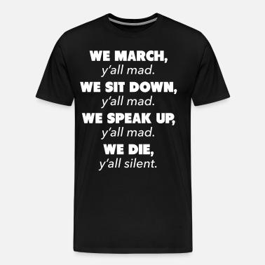 cea5d5ae6d8c73 Y all Mad Civil Rights Unisex Baseball T-Shirt