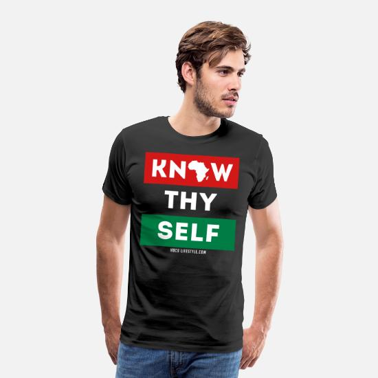 American T-Shirts - Know Thy Self - Men's Premium T-Shirt black