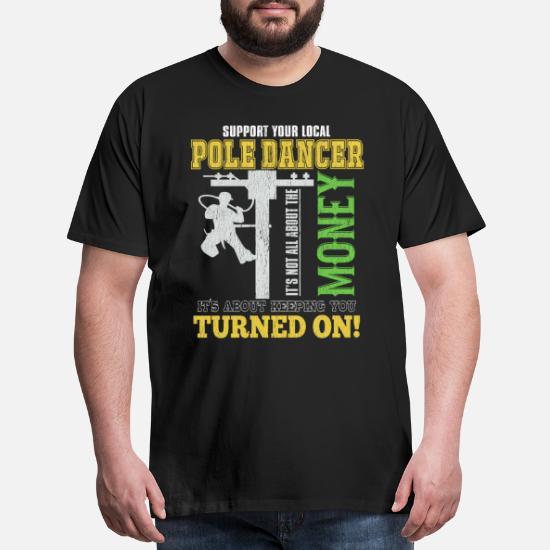 Support Your Local Pole Dancer Humor Unisex Crewneck Graphic Sweatshirt