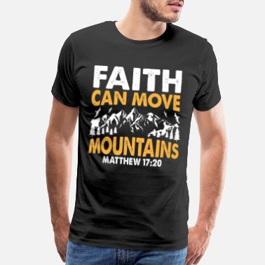 Cross Christianity Faith can move mountains - Men's Premium T-Shirt