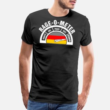 Funny German Rage O Meter German - Men's Premium T-Shirt