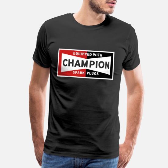 Champion Spark Plugs BLACK vintage sign Racer Hot Men's