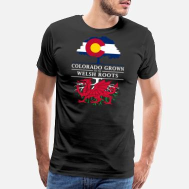 Welsh Roots Colorado Grown with Welsh Roots Wales Design - Men's Premium T-Shirt