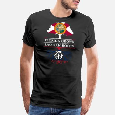 America Florida Grown with Laotian Roots Design - Men's Premium T-Shirt