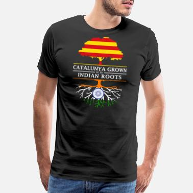 India Pride Catalunya Grown With Indian Roots Design - Men's Premium T-Shirt