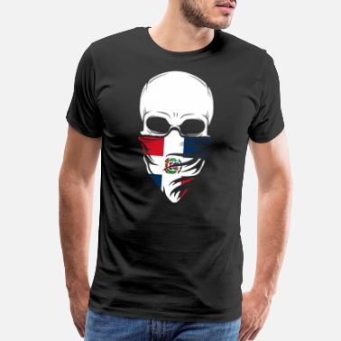 Dominica Dominican Republic Skull Tee - Dominican Republi - Men's Premium T-Shirt