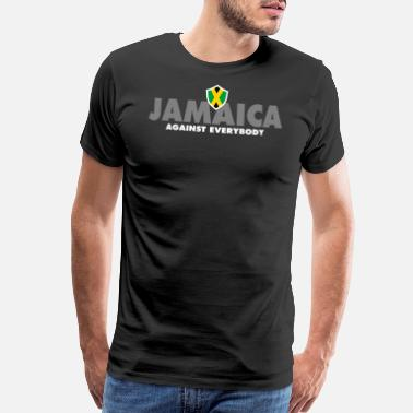Flag Of Guyana Jamaica Against Everybody - Men's Premium T-Shirt