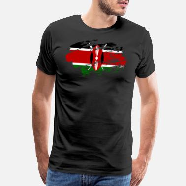 Speaking Kenya Flag Shirt - Men's Premium T-Shirt