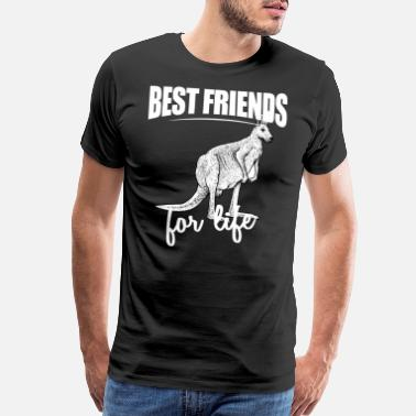 Pouch Best Friends For Life - Red Kangaroo For Everyone - Men's Premium T-Shirt