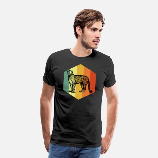 Animal Rights Activists T-Shirts - JAGUAR Vintage Big Cat Tshirt - Men's Premium T-Shirt black