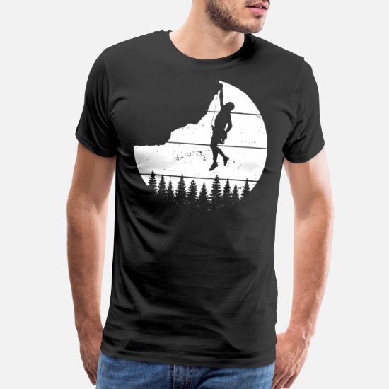 Rock Climber Mens Personalised T-Shirt Mountain Climb Climbing Hiking Gift Idea